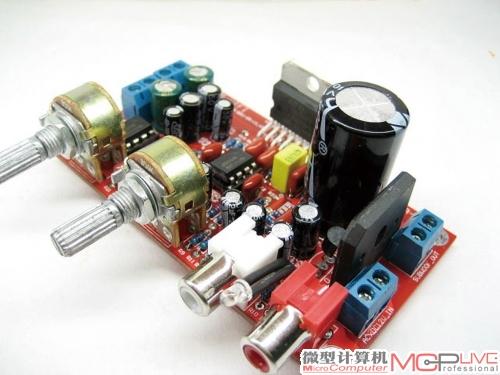 采用tda7377功放芯片的电路板